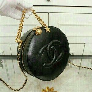 New Chanel VIP Gift Leather Cross body Black Bag